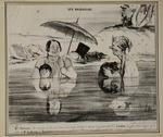 Les Baigneurs by Honoré Daumier