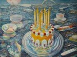 Seven Candle Cake by Michael Bravo