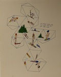 Untitled (Skier Ornament Printout) by Artist Unknown