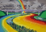 Four-Lane Rainbow by Jackie McElroy