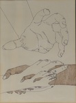 Untitled (Sketch of Hands) by Artist Unknown
