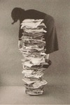 Self Portrait With Files by Kim Abeles