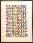 Untitled, Postage Stamp Collage on Paper by Barton Lidice Benes