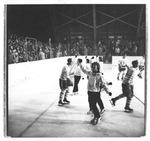 UND Hockey Players and Cheerleaders