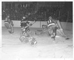 1962-63 Hockey Team in Action