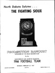 Recognition Banquet Program for the 1966 UND Football Team