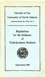 Regulations for the Guidance of Undergraduate Students: 1929