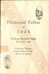 Stadium Benefit Night, 1926 Flickertail Follies